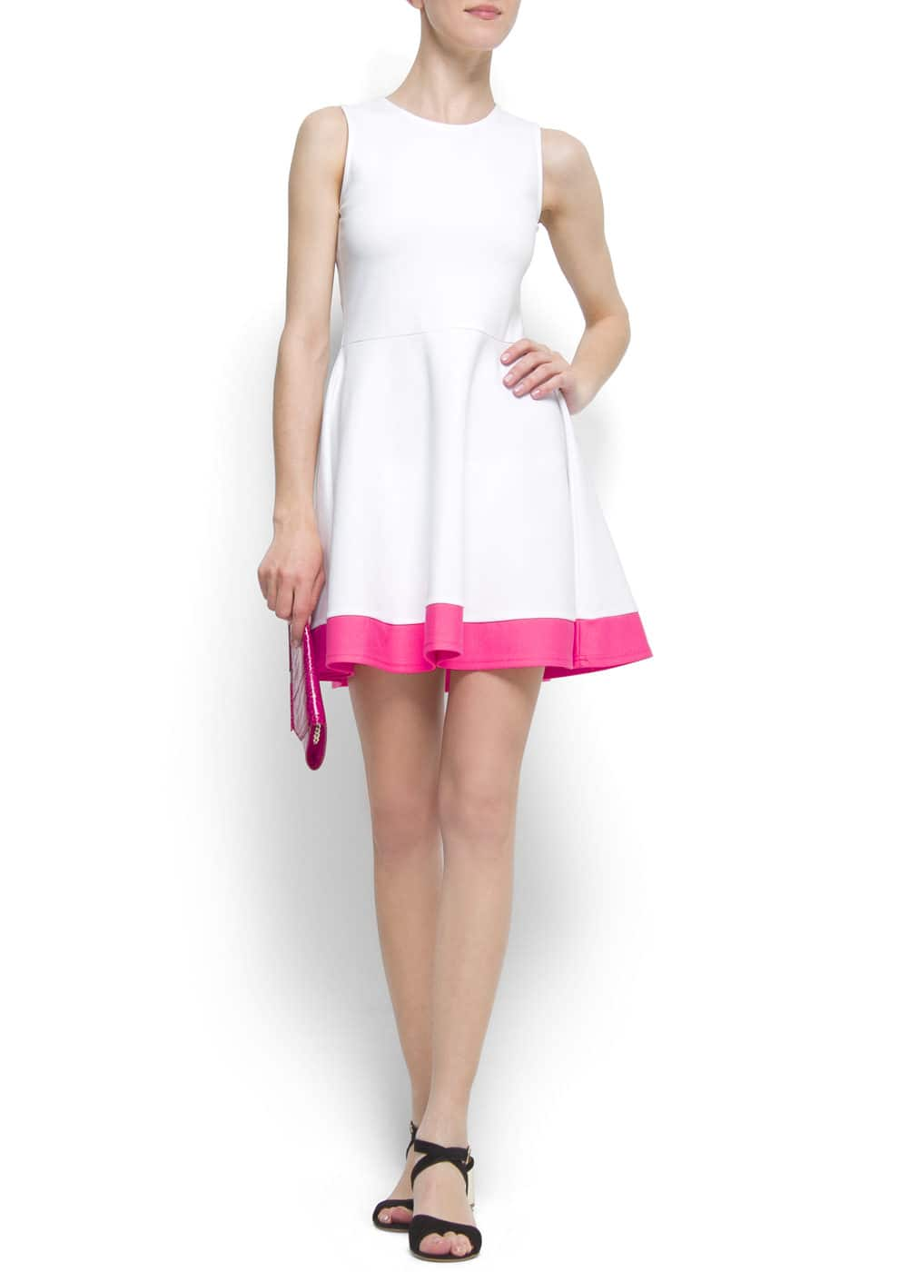 Contrast dress   MANGO
