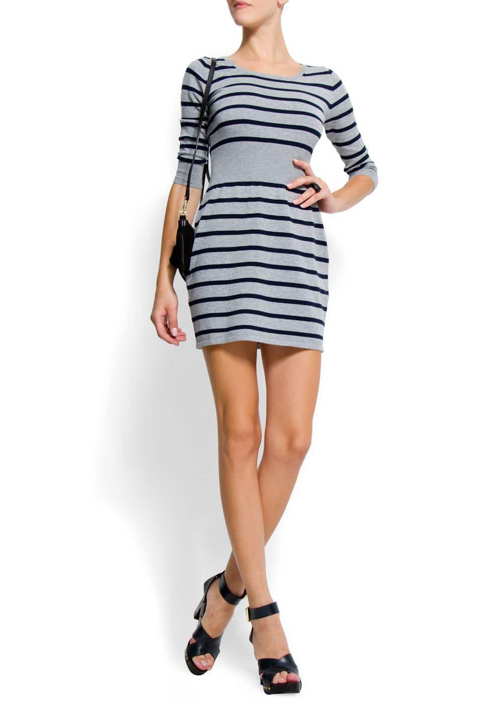 Stripes dress   MANGO