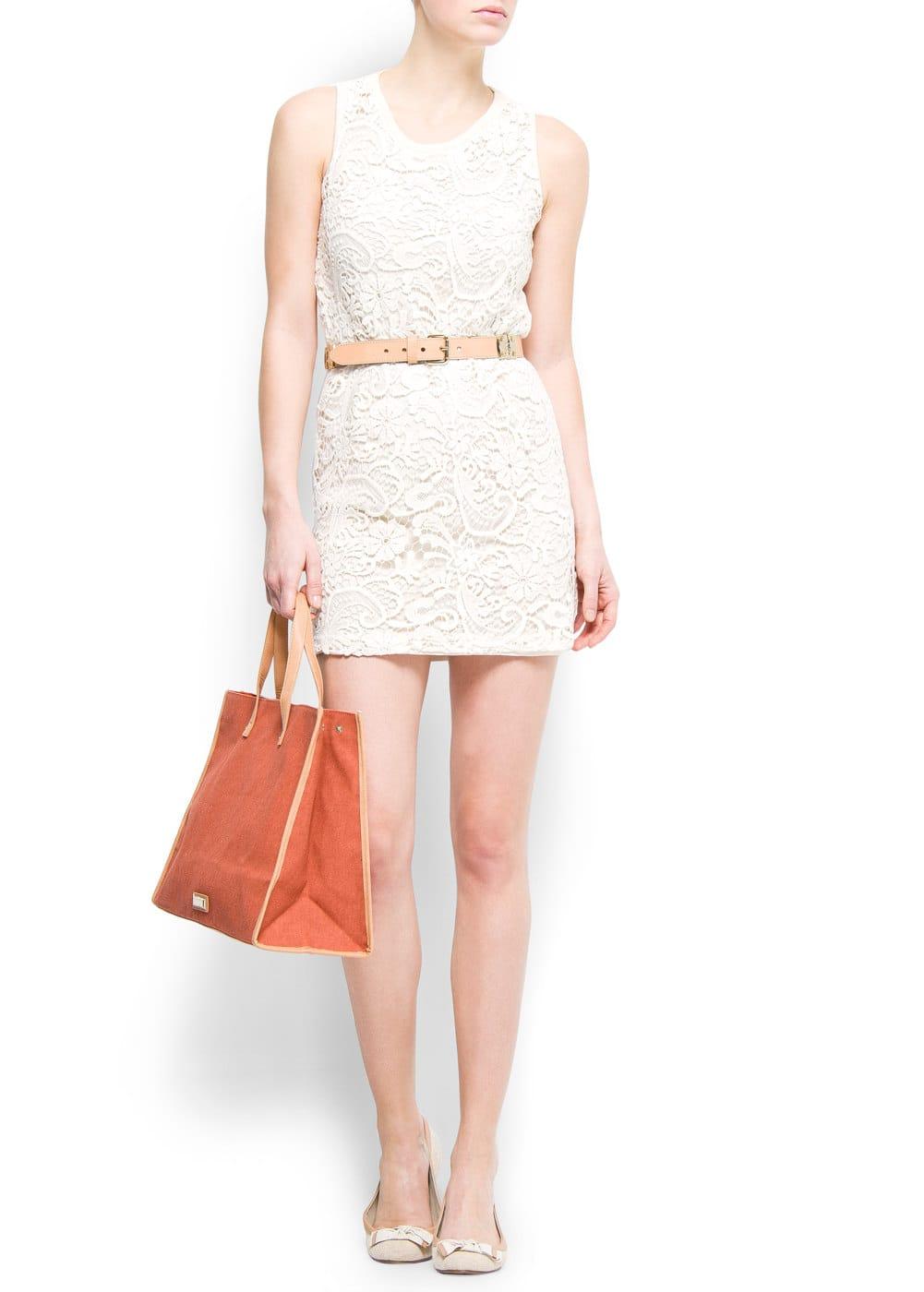Guipure lace dress | MANGO