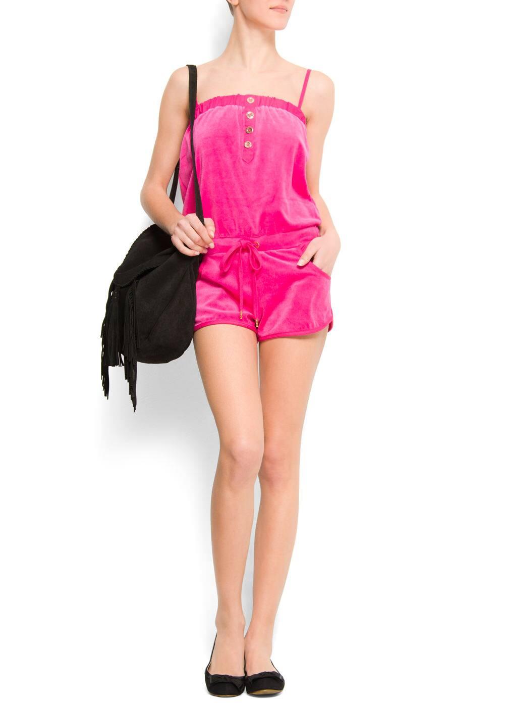 Velvet effect jumpsuit | MANGO