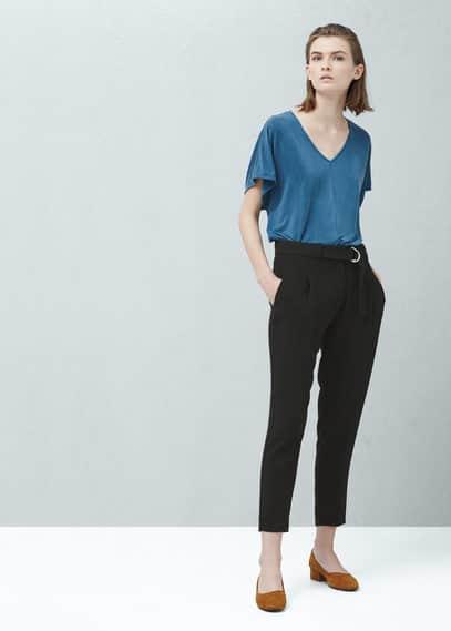 Camiseta cupro | MANGO