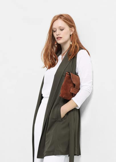 Belt long gilet | VIOLETA BY MANGO