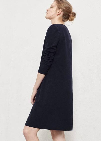 Платье с декоративными строчками | VIOLETA BY MANGO