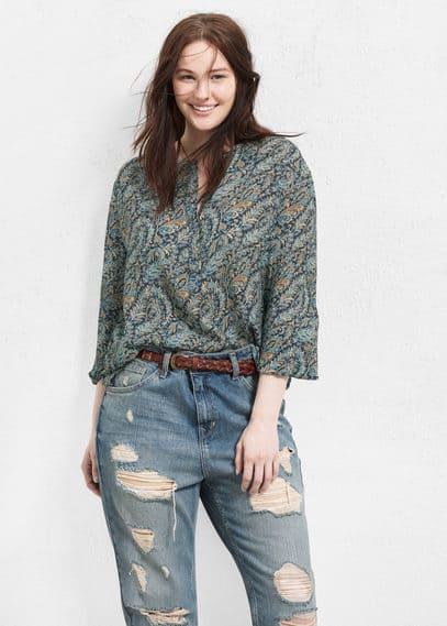Blusa estampada paisley | VIOLETA BY MANGO