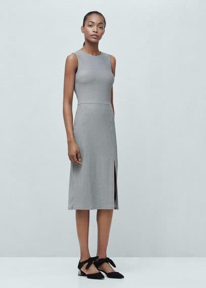 Vent cotton dress | MANGO