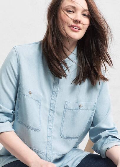 Denim soft shirt | VIOLETA BY MANGO