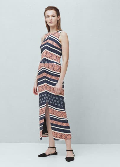 Printed gown | MANGO