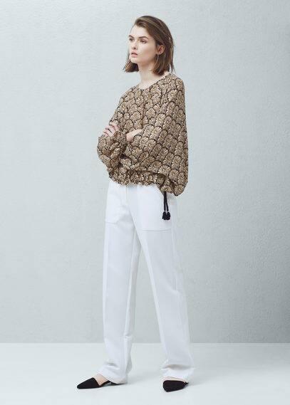 Blusa estampada textura | MANGO