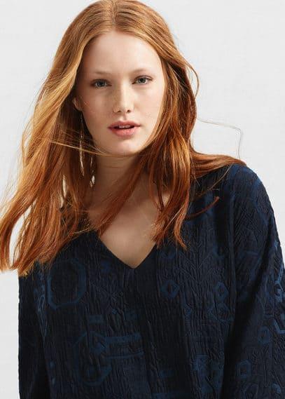 Textured jacquard dress | VIOLETA BY MANGO