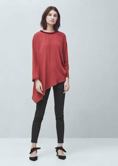 Bluse mit quasten | MANGO