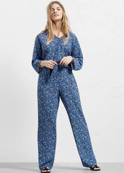 Floral print trousers | VIOLETA BY MANGO