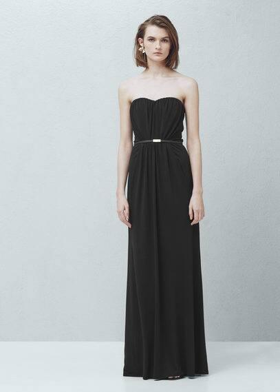 Strapless dress   MANGO