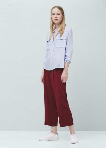 Camisa bolsos lapela | MANGO