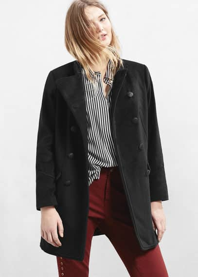 Double-breasted wool coat | VIOLETA BY MANGO