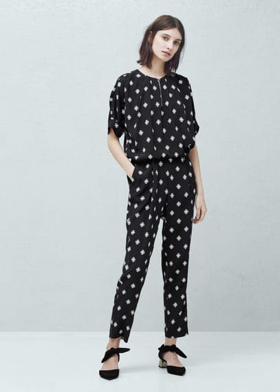 Long printed jumpsuit | MANGO