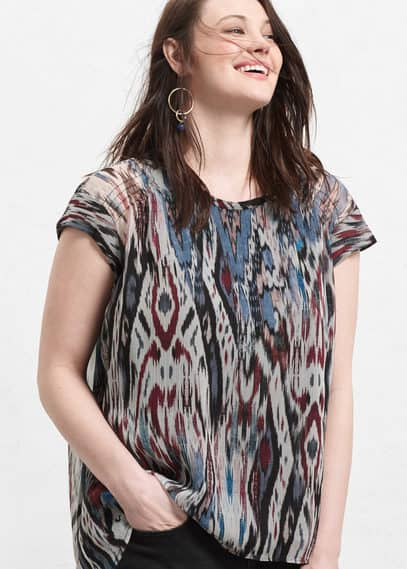 Flowy printed top | VIOLETA BY MANGO