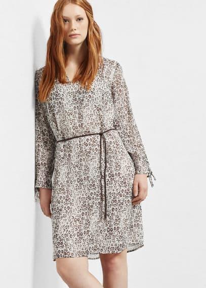 Платье с леопардовым принтом | VIOLETA BY MANGO