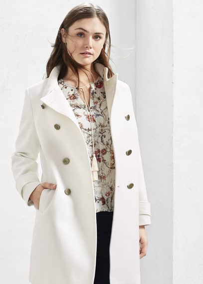 Manteau long coton | VIOLETA BY MANGO