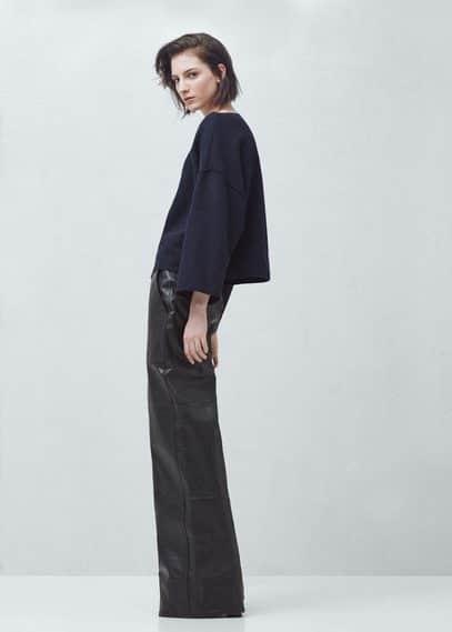 Premium - wool-blend top | MANGO