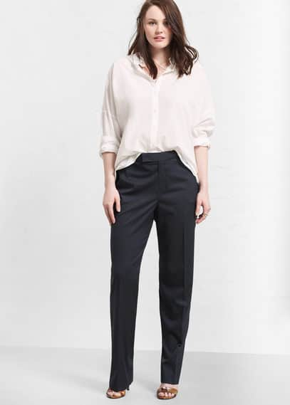 Striped suit trousers | VIOLETA BY MANGO