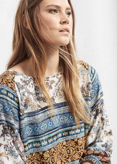 Mixed print dress | VIOLETA BY MANGO