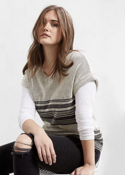 Textured cotton-blend sweatshirt | VIOLETA BY MANGO