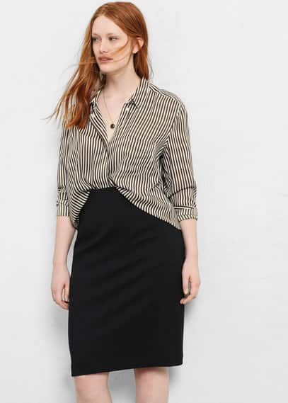 High-waist pencil skirt | VIOLETA BY MANGO