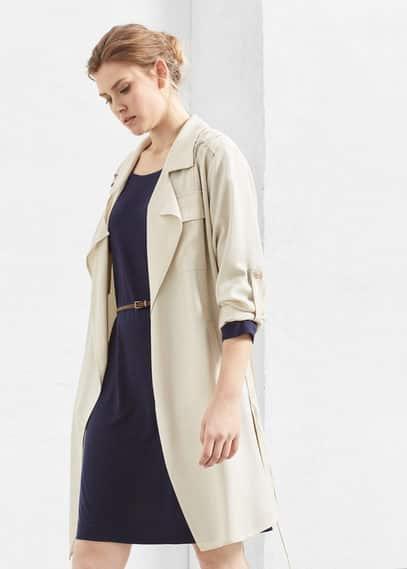 Skinny belt dress | VIOLETA BY MANGO