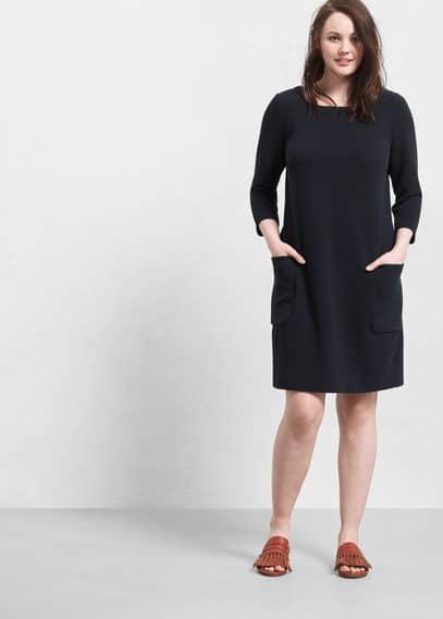 Vestido algodón textura | VIOLETA BY MANGO