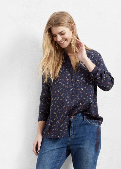 Lightweight printed shirt | MANGO