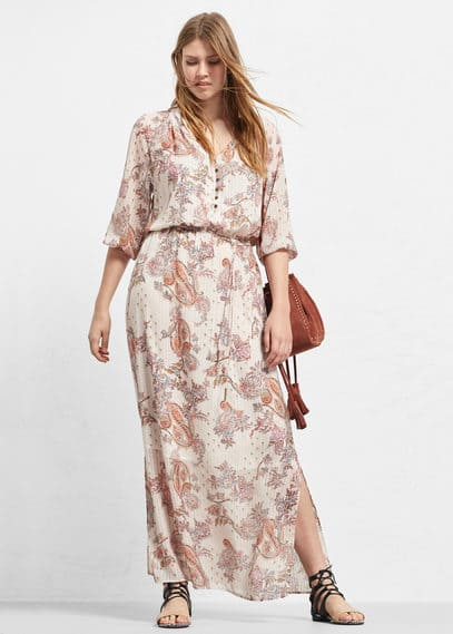 Paisley gown | VIOLETA BY MANGO