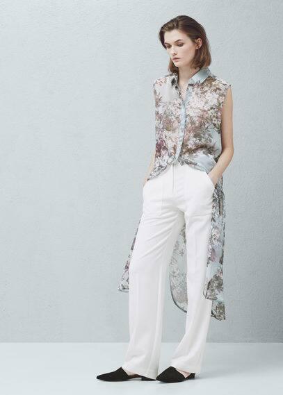 Blusón estampado floral | MANGO