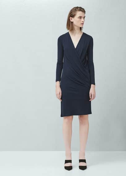 Draped wrap dress | MANGO