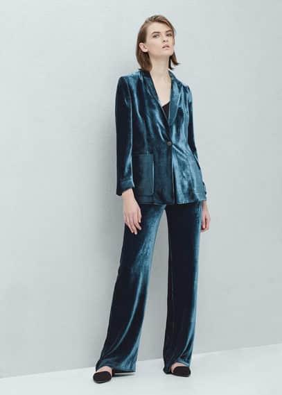 Velvet trousers | MANGO