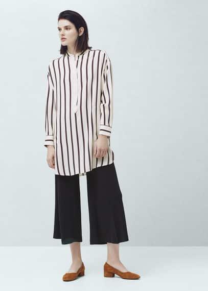 Oversize striped shirt | MANGO