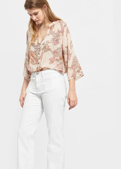 Bluse mit paisley-muster | VIOLETA BY MANGO