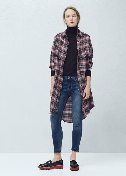 Isa crop skinny jeans | MANGO