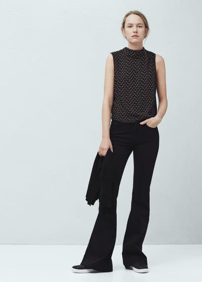 High collar top | VIOLETA BY MANGO