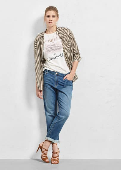 Comfy-fit jeans | VIOLETA BY MANGO