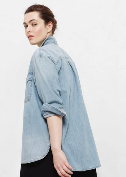Light denim shirt | VIOLETA BY MANGO