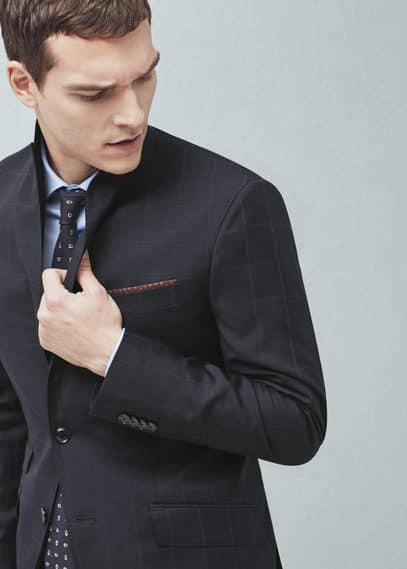 Check wool london suit | MANGO MAN