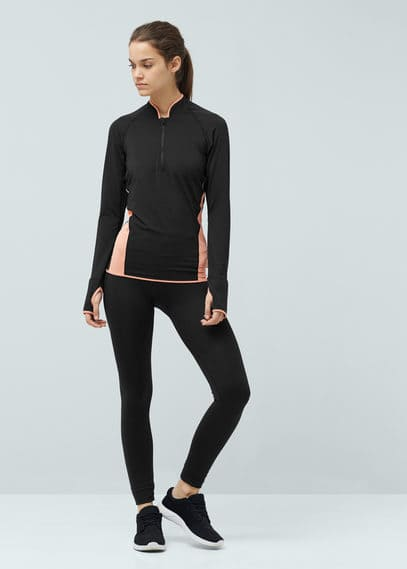 Fitness & running - camiseta running multi-way stretch | MANGO