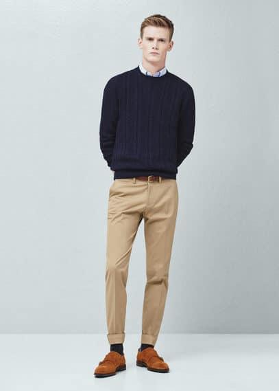 Bavlněný svetr sosmičkovým vzorem | MANGO MAN