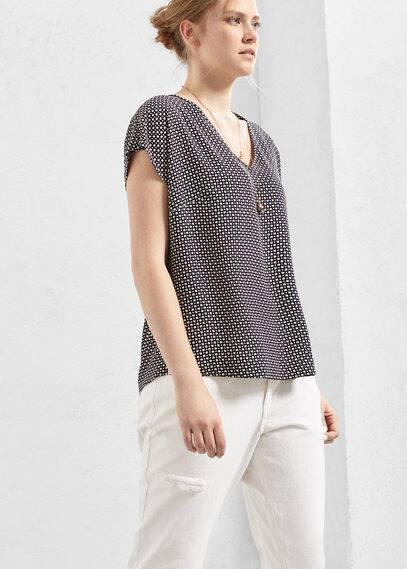Flowy printed blouse | VIOLETA BY MANGO