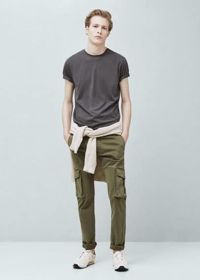 Basic-t-shirt aus baumwolle | MANGO MAN