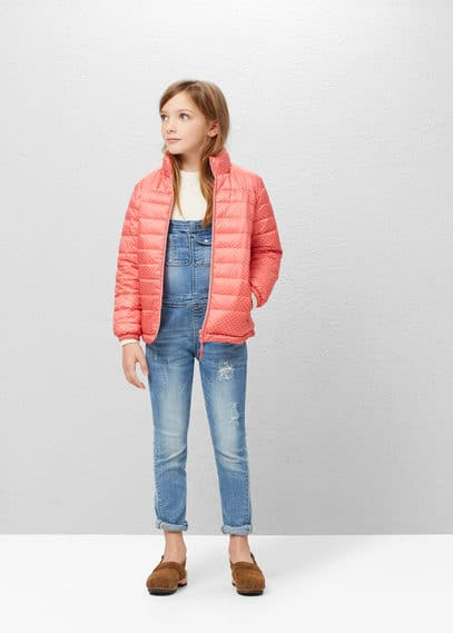 Hooded water-repellent quilted jacket | MANGO KIDS