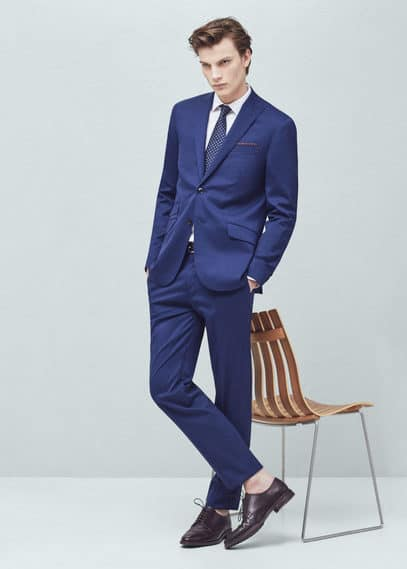 Slim-fit wool london suit | MANGO MAN