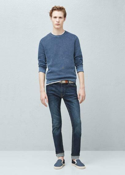 Textured cotton sweater | MANGO MAN