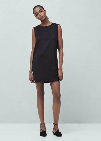Decorative trim dress | MANGO