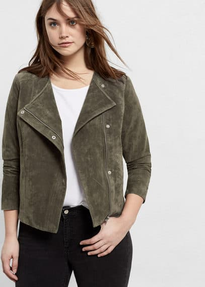 Suede jacket | VIOLETA BY MANGO